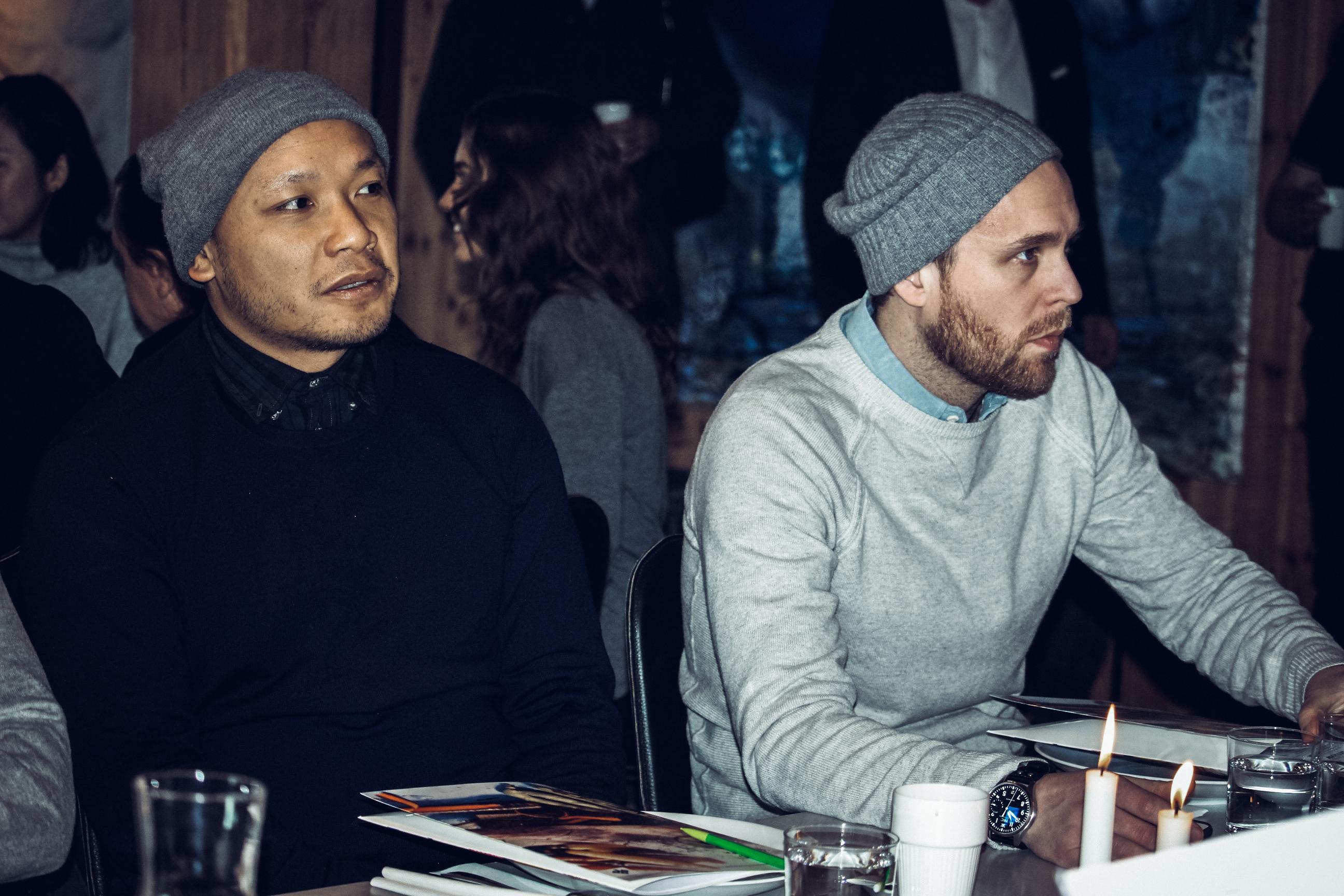 Sayan Isaksson och Björn Frantzén